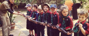 scout joeys hold olive python snake at peel zoo